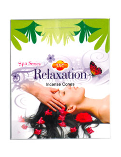 Sandesh (SAC) Spa Series Cone Incense - Relaxation