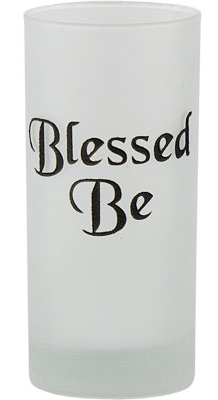 Candle Holder - Pillar Candle Holder Blessed Be