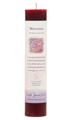 Motivation - Crystal Journey Herbal Magic Pillar Candle