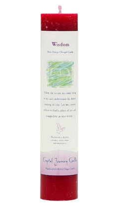 Wisdom - Crystal Journey Herbal Magic Pillar Candle