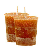 Pumpkin Crystal Journey Traditional Votive Candle - 2 Candles