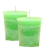 Abundance Crystal Journey Herbal Votives - 2 Candles