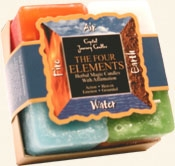 The Four Elements - Crystal Journey Candles Herbal Gift Set