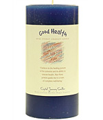 Good Health - Crystal Journey Herbal 3X6 Pillar Candle