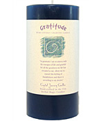 Gratitude - Crystal Journey Herbal 3X6 Pillar Candle