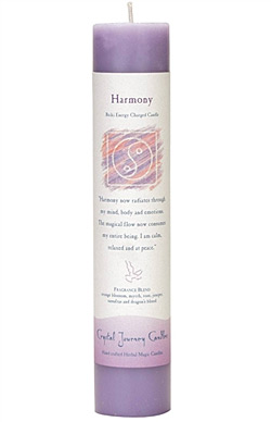Harmony - Crystal Journey Herbal Magic Pillar Candle