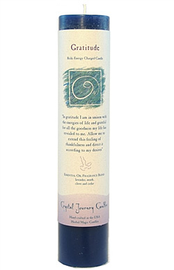 Gratitude - Crystal Journey Herbal Magic Pillar Candle