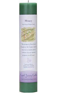 Money - Crystal Journey Herbal Magic Pillar Candle