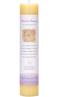 Positive Energy - Crystal Journey Herbal Magic Pillar Candle