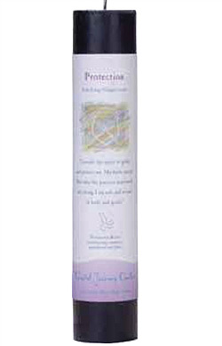 Protection - Crystal Journey Herbal Magic Pillar Candle