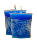 Blueberry Crystal Journey Traditional Votive Candle - 2 Candles