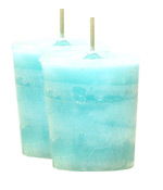 Clean Linen Crystal Journey Traditional Votive Candle - 2 Candles