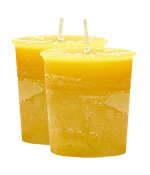 Citronella Crystal Journey Traditional Votive Candle - 2 Candles