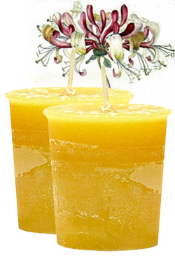 Honeysuckle Crystal Journey Traditional Votive Candle - 2 Candles