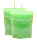 Kiwi Crystal Journey Traditional Votive Candle - 2 Candles