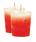 Strawberry-Vanilla Crystal Journey Traditional Votive Candle - 2 Candles