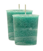 Rain Forest Crystal Journey Traditional Votive Candle - 2 Candles