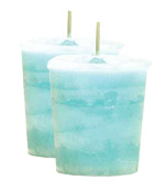 Rain Crystal Journey Traditional Votive Candle - 2 Candles