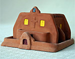 Incienso de Santa Fe Southwest Style Iglesia (church) Incense burner w/Pinon Incense