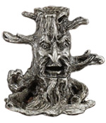 Cone Incense Burner - Tree Man Pewter