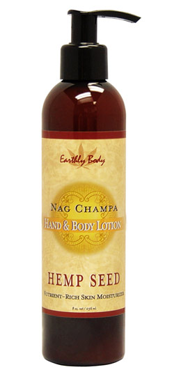 Earthly Body Hemp Seed Hand & Body Lotion - Nag Champa 8 oz.
