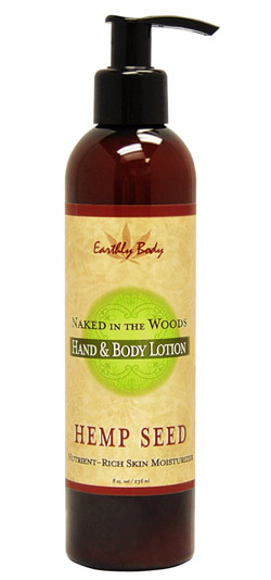 Earthly Body Hemp Seed Hand & Body Lotion - Naked In the Woods (White Tea and Ginger) 8 oz.