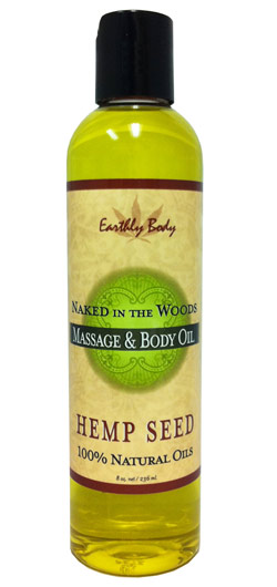 Earthly Body Massage & Body Oil - Naked in the Woods (White Tea & Ginger) 8 oz.