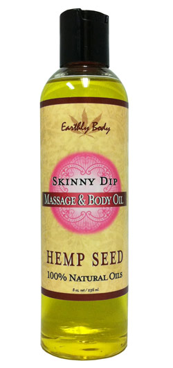 Earthly Body Massage & Body Oil - Skinny Dip (Vanilla & Cotton Candy) 8 oz.
