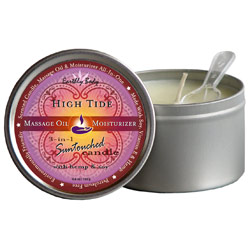 Earthly Body 3-in-1 Suntouched Massage Oil Candle - High Tide (Coconut, Lime & Verbena)