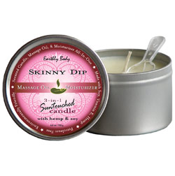 Earthly Body 3-in-1 Suntouched Massage Oil Candle - Skinny Dip (Vanilla & Cotton Candy)