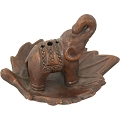 Incense Burner - Ceramic Elephant Terra Cotta