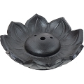 Ceramic Incense Burner - Black Lotus