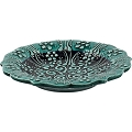 Candle Holder - Ceramic Candle Plate (teal)