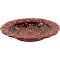 Candle Holder - Ceramic Candle Plate (red)