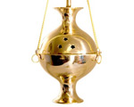 Charcoal Burner - Brass Hanging Incense Censer 8