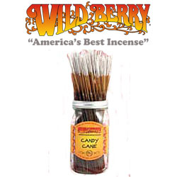Candy Cane Incense Sticks by Wild Berry Incense