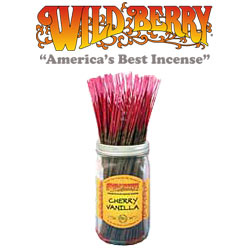 Cherry Vanilla Incense Sticks by Wild Berry Incense
