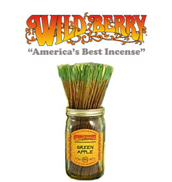 Green Apple Incense Sticks by Wild Berry Incense