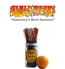 Orange Incense Sticks by Wild Berry Incense
