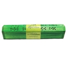 Wooden Green Incense Burner w/Lemongrass Incense Sticks & Incense Cones