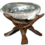 Wooden Abalone Tripod  (Shell not included)