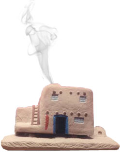 Incienso de Santa Fe Casa de Adobe Incense burner w/Pinon Incense