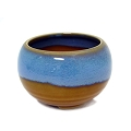 Azure Japanese Handthrown Ceramic Bowl