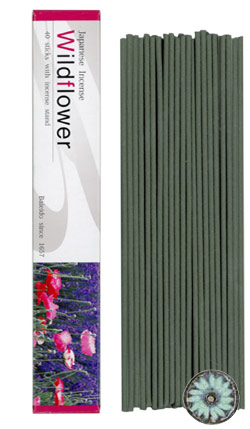 Baieido Wildflower Incense (Imagine Series) 40 Sticks + Holder