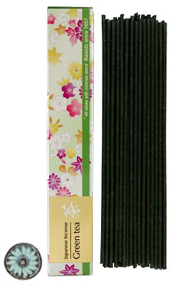 Baieido Green Tea Incense - Smokeless  (Imagine Series) 40 Sticks+ Holder