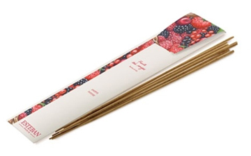 Esteban Berries of Red Incense - 20 Bamboo Incense Sticks