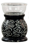 Oil Burner - Black Leaf Soapstone Oil Burner