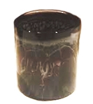 "Votive Holder - Glass Candle Holder 3"" (Black)"