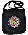 Hemp Shoulder Bag with OM Symbol (Black)