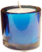 Votive Holder - Blue Glass